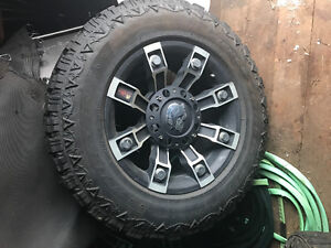 Metal mulisha rims and firearce tires