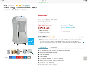 Large Dehumidifier for cheap