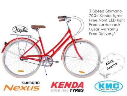 NIXEYCLES Keeka 3 Speed   Vintage Alloy Bicycle   Free Delivery*