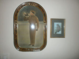 soldier photograph hand coloured frame rounded glass