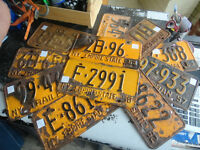 """Very Vintage New York """"Empire State"""" Car Plates D178-79"""
