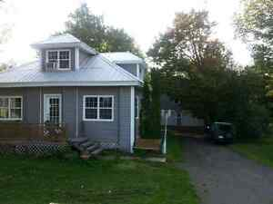 Recently renovated house and 2 garages for sale in McAdam nb