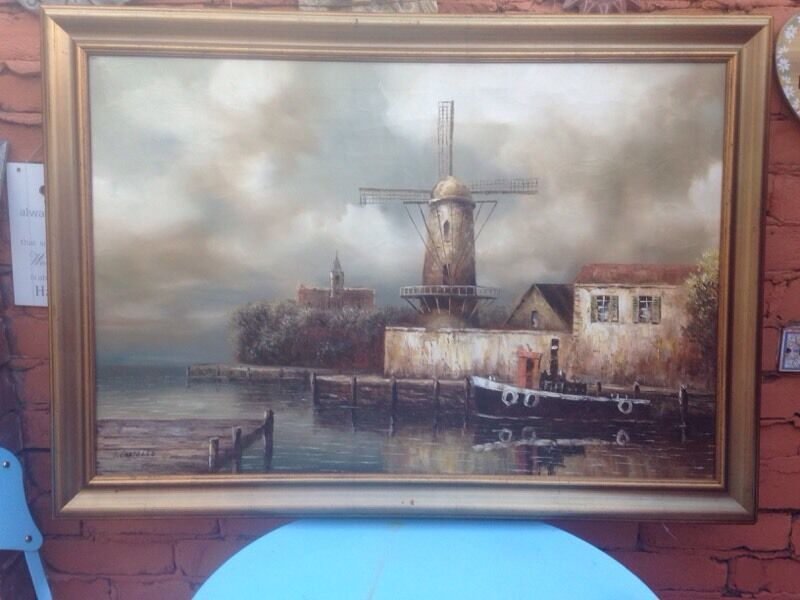 Lovely Vintage Oil Painting By I Costello In Exeter
