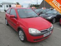 2002 Vauxhall Corsa Hatch 3Dr 1.2 16V SXi Petrol red Manual