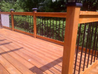 Clean deck for your wedding party