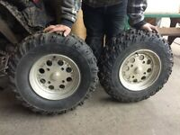 Can am tires and rims x 4