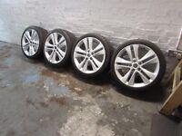 """Astra j alloys & tyres 18"""""""