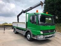 2011 Mercedes Atego 1018 14ft6 alloy dropside Hiab XS 066 piped crane