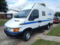 IVECO Campervan Conversion 2 Berth with a total of 3 front seats and seat belts
