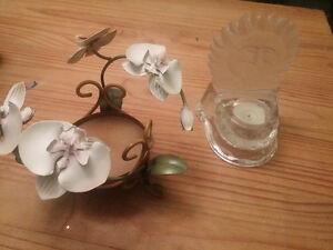 Decor items - candle holders, picture frames, art
