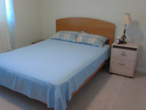 Furnished bedroom for $680 CDN monthly