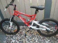 Kranked 20 Factor dual suspension 6 speed mountain bike