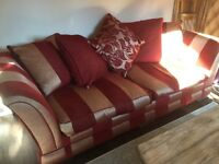 FREE gold and red Furniture Village 3 seater