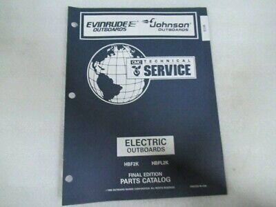 1997 Evinrude Johnson Electric Final Edition OEM Parts Catalog Manual P/N 438183