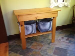 3 foot high pine table
