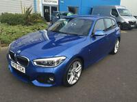 BMW 116 1.5TD ( bhp ) ( s/s ) Sports Hatch 2015.5MY d M Sport Blue Nav Phone