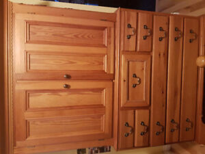 Solid Southern Pine wall unit