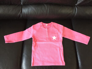 Brand new girl's pink top (T-shirt) ,100% cotton