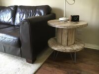 Distressed Industrial Side Table - Delivery Available