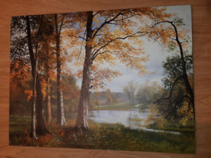3 nature prints on wrapped canvas