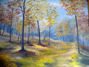 "Original Landscape Painting by H. Brown ""Enchanted Woods"" 1940's Stratford Kitchener Area image 2"