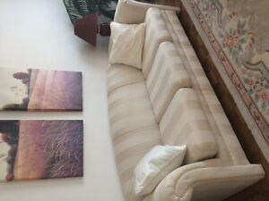 White couch and loveseat set