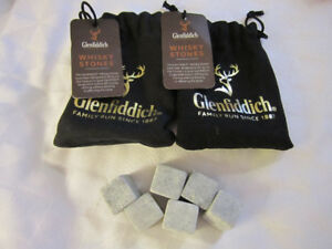 Two pouches of three (3) Glenfiddich Whiskey Stones - Unused