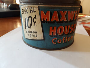 Vintage Coffee Can Maxwell House