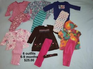 Baby Girl Clothes in sizes 6-9 months