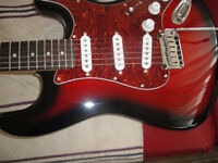 STRATOCASTER,SQUIER STANDARD ELECTRIC GUITAR MINT $240
