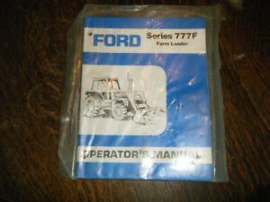 Ford Series 777F Farm Loader for Tractors  Operators  Manual