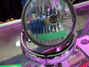 Harley Halogen light bulb and chrome ring- recycledgear.ca