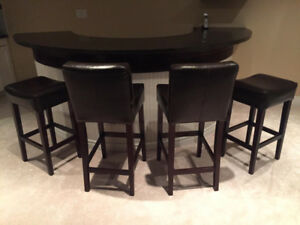 4 Leather Bar Stools