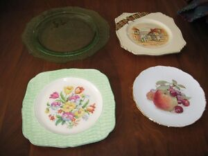 4 fancy china plates for cookies, etc