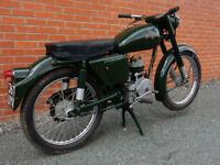 EXCELSIOR UNIVERSAL U9 1955 150cc LONG MOT WITH ORIGINAL MANUAL
