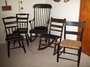 ANTIQUE ORIGINAL PAINT CHAIRS ROCKING OTHER  PRICES LISTED