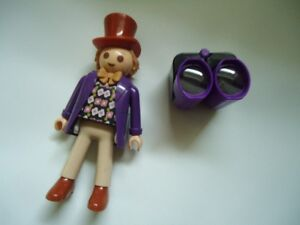 "Large Playmobil  7""  Willy Wonka figure"