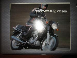 Honda CX500 CX 500 brochure