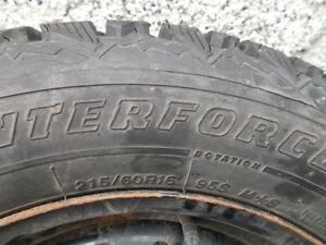 4 pneus  215/60R16 95S M+S Saint-Hyacinthe Québec image 2