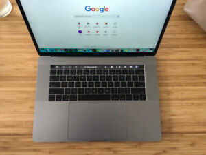 """Macbook Pro 15"""" Touch bar with Apple Care"""
