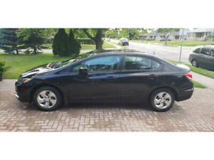 2013 Black Honda Civic LX ~87,000km