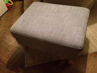 Ikea Isunda Grey Karlstad Footstool