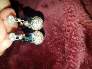 Sparkle Ball Pendant Earrings