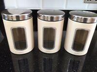 Set of barbantia tea, sugar, coffee canisters