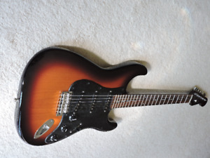 Sunburst Stratocaster guitar with ALL Rosewood neck