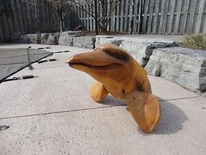 Custom Artisan Carved Solid Wood Bobbing Dolphin ForLake Cottage Kitchener / Waterloo Kitchener Area image 6