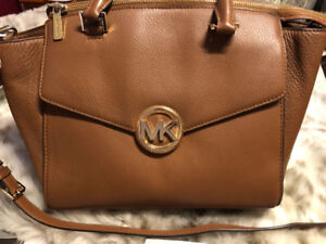 Authentic Michael Kors Satchel with Matching Wallet