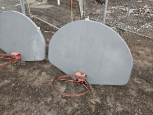 Four Basketball backboards with rims