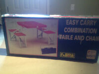 Easy Carry Combination Table And Chair