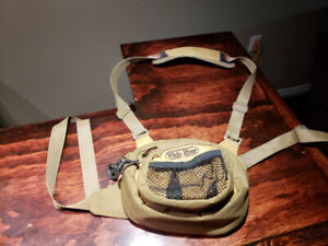 White River Fly Shop Chest Pack with flies